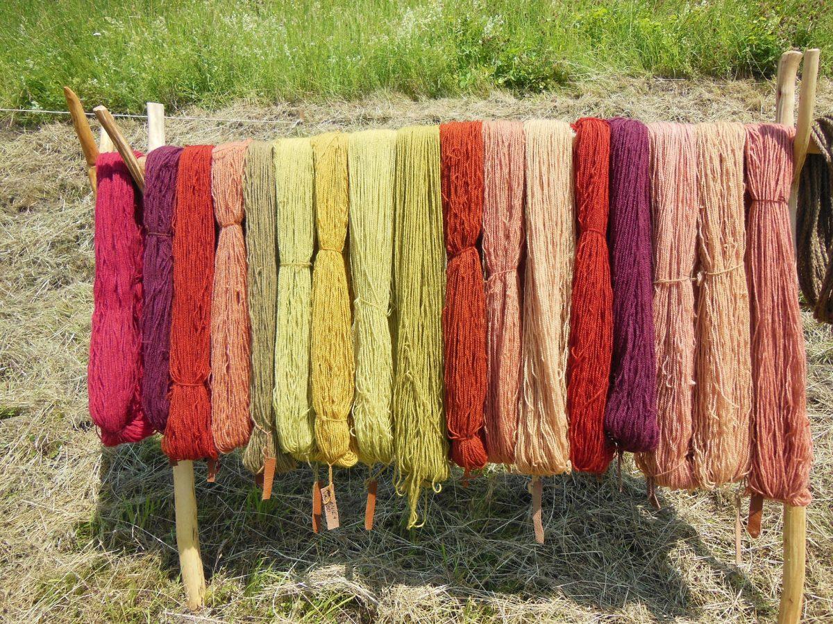 Wolle färben mit Pflanzenfarben